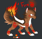 Fire Dracowolf Adopt Auction :CLOSED: by Darkaiya