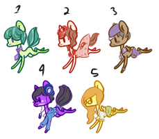 30pt pony adopts. - OPEN- by OfficerMittens