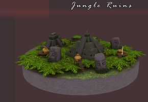 Jungle Ruins by Poopgoblyn