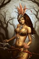 Tribal Warrior by NoName-Face