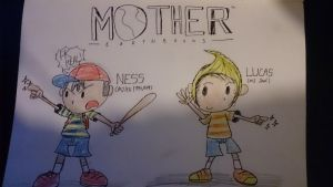 Ness and Lucas by smithandcompanytoons