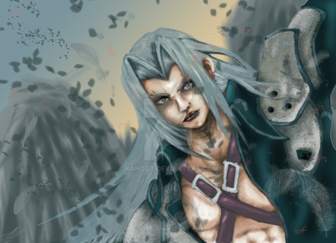 sephiroth  colored by kanogt