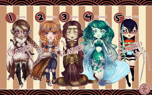 Adoptables Set 1 -One Available by Valkymie