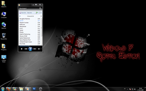 Windows 7 Gothic Edition SS by MikeGTS