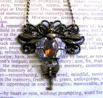Steampunk Necklace bee wings by GraceCM