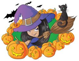 Little witch vector by jkBunny