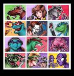 Teenage Mutant Ninja Turtle Artist Trading Cards by taylorsmith03