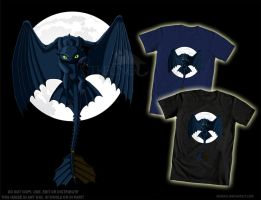Night Fury - T-Shirt Design by Strecno