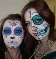 Sugar Skull Beauties- Halloween by Sweetie-J