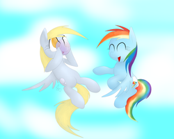 .:Request:. Derpy and Rainbow Dash Hanging out by IDSmehlite