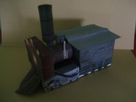 Steam Punk Train form cube model by Allhallowseve31