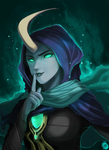 Silence! : Reaper Soraka Colored by hopiangmangga