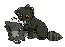 My Paws are cute - Chibi Com by Wolf-Alpha