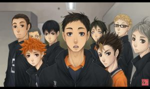 Haikyuu!! screenshot redraw - Karasuno by zero081090