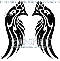 Pawprint Wings Design Commish by WildSpiritWolf