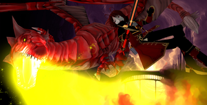 Ace Vs Dragon 2 by KingdomHeartsNickey
