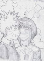 NaruHina Dance sketch by Lolli-Chan