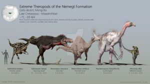 Extreme Theropods of the Nemegt Formation by PaleoGuy