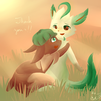Thank You Leafeyeon!! by honrupi