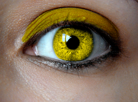 Birthstone Eye: Yellow Topaz by Padfoot7411
