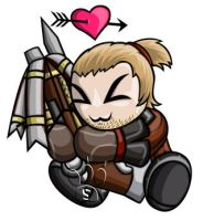 Varric Chibi by RedPawDesigns