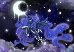 My Little Pony: Friendship Is Magic/ Princess Luna by Kanochka