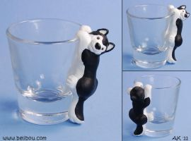 Husky Shotglass by painteddog
