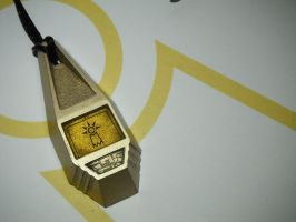 Digimon Tag with TK's Crest of Hope (view 2) by ChinookCrafts