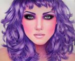 Purple Hair by AngelasPortraits