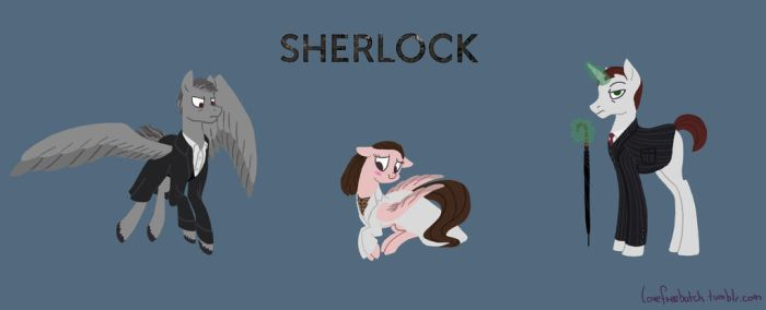 Sherlock characters as ponies #2 by ImaginaryPicture