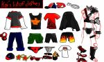 list of clothes that Kai would wear by FireEdStar