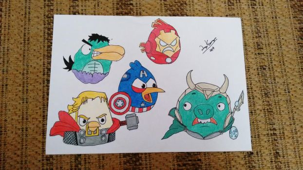 The Avengers - Angry Birds by Diego9180