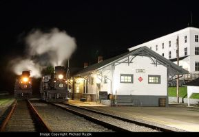 Steam at night by 3window34