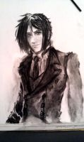 Sketch: Sebastian Michaelis by soulless-lover