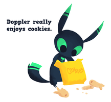 Doppler really enjoys cookies. by Jollv