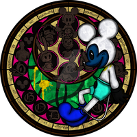 Fnati+KH: Abandoned by Disney Stained Glass by Crystalchan2D