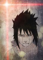 Sasuke crying for his brother Itachi by Ocraxhaydon