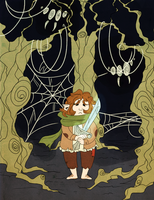 bilbo and the spiders by melliMEL