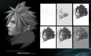 Cloud Strife W.I.P by Wintfox