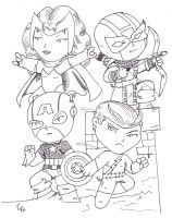 Cap's Kooky Quartet by Jason-Lee-Johnson