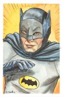 Adam West Batman Watercolor... by ssava