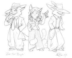 Zoot Suit Brigade - T.Butler by SolarGriffin