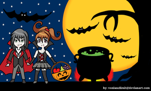Skye and Jill in Halloween Harvest Festival by vonlanzlimit