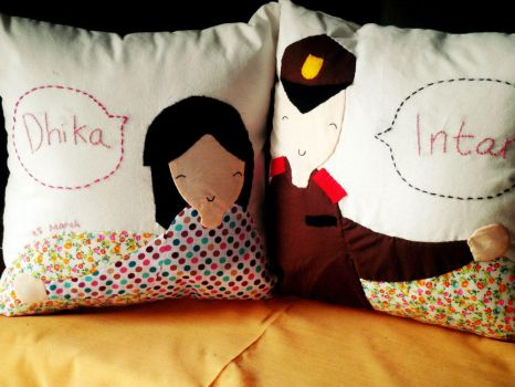 Couple pillow dhika n intan by heppieyippie