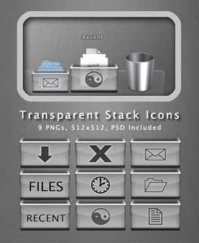 Transparent Stack Icons by hotiron