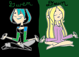 Gwen and Dawn - Colored by Britishgirl2012