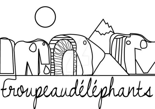Troupeaudelephants by babeuh