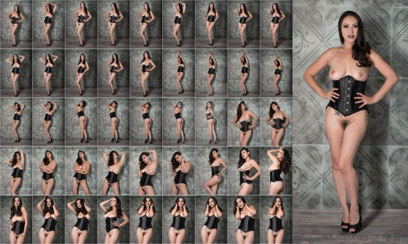 Stock: Asia Black Corset Standing - 46 Images by stockphotosource