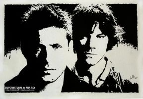 Supernatural. False engraving by diablana81