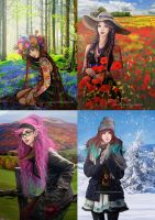 Folk Seasons by momofukuu